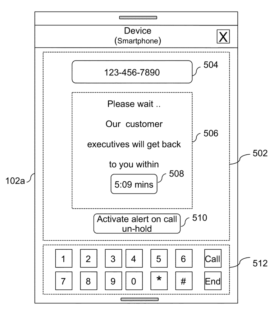 System method and device for providing tailored services when call is on-hold